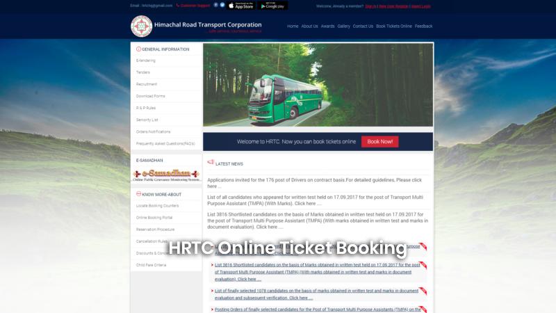 HRTC Online Ticket Booking